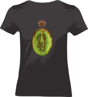 "Shirt ""Healthy Eating"" L Black"