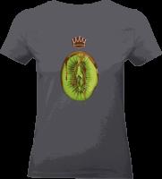 "Shirt ""Healty Eating"" L grau"