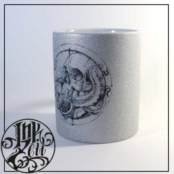 "Tasse ""Sea Skull"" silber"