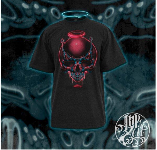 """Shirt """"Neon Skull"""" M"""