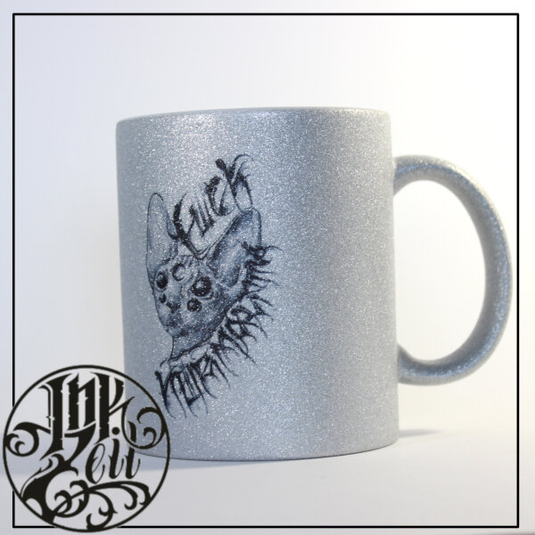 """Tasse """"Fuck Normality"""" silber"""
