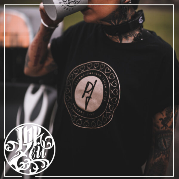 Paul Jazzman - College Unique Shirt - Rundhals S Shirt: schwarz / Print: silber