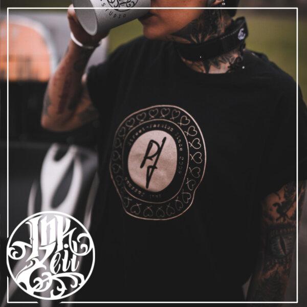 Paul Jazzman - College Unique Shirt - Rundhals XL Shirt: schwarz / Print: silber
