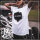 Paul Jazzman - Fashion World Shirt M Shirt: weiß / Print: schwarz