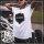Shirt: weiß / Print: schwarz